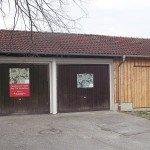 Der Anbau an die Garage am Ausweichsportplatz stand im Mittelpunkt der Investitionen und der Maßnahmen im Vereinsjahr 2014.
