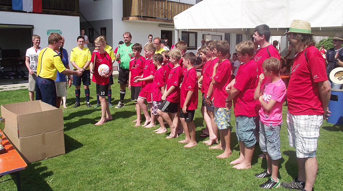 Die D-Junioren wurden Kreisklassenmeister und vom Verband geehrt